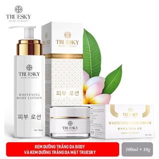 Bộ sản phẩm dưỡng trắng da mặt và body Truesky VIP01 gồm (1 kem dưỡng trắng da mặt 10g & 1 kem body dưỡng trắng 100ml) - 1 KEM DƯỠNG BODY 100ML + 1 KEM FACE 10G thumbnail