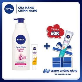 [Tặng Tinh chất chống nắng NIVEA dưỡng trắng & kiểm soát dầu 15ml] Combo Sữa dưỡng thể và tinh chất chống nắng dưỡng trắng da Nivea - TUNI0195CB