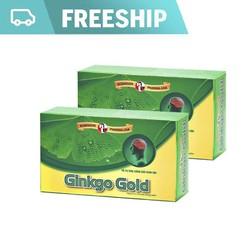 (Miễn phí ship HCM) Combo 2 Hộp Viên uống tuần hoàn não, Ginkgo Biloba, tăng cường trí nhớ, giảm stress - Ginkgo Gold - MediBeauty - Robinson Pharma USA