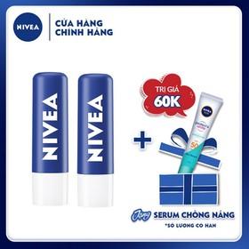 [Tinh chất chống nắng NIVEA dưỡng trắng & kiểm soát dầu 15ml] Combo 2 Son dưỡng ẩm chuyên sâu Nivea Original Care (4.8g) - 85061 - TUNI0196CB
