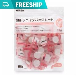 Mặt nạ giấy nén Miniso Nhật 100 miếng