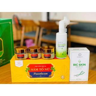 Combo sâm tố nữ puecolazen,sữa rửa mặt ric skin và serum - 830 thumbnail