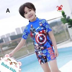 Đồ bơi bé trai hình siêu anh hùng 12-25kg.  Vải co giãn tốt tạo cảm giác thoải mái dễ chịu khi mặc.