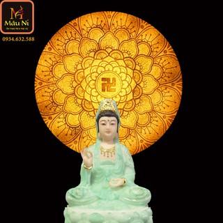 Đèn thờ hào quang Tranh trúc chỉ in MÂU NI, đường kính 40cm, (thích hợp đặt tượng thờ cao 20cm đến 40cm), đèn thờ, tượng phật - tranhtrucchiin9 thumbnail