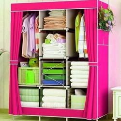 [GIẢM GIÁ SỐC] Tủ vải quần áo 3 buồng 8 ngăn