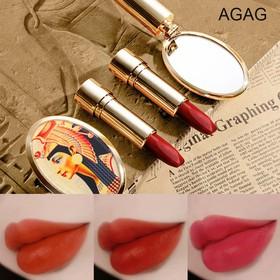 Son môi 3 màu AGAG Nữ hoàng kèm gương son 3 màu son nội địa Trung son đổi màu son đẹp son lì - KR-SM17