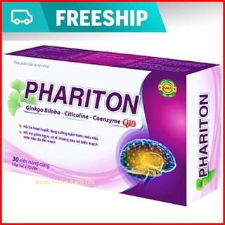 Viên Uống Bổ Não Phariton,Ginkgo Biloba,Citicoline,Coezyme Q10 - Hộp 30 viên chuẩn GMP Bộ Y tế - Phariton,Ginkgo Biloba,Citicoline,Coezyme Q1 thumbnail