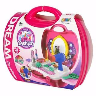 BỘ VALI TRANG ĐIỂM CHO BÉ 8228 Bộ đồ chơi trang điểm cho bé [ĐƯỢC KIỂM HÀNG] - 32005075 thumbnail