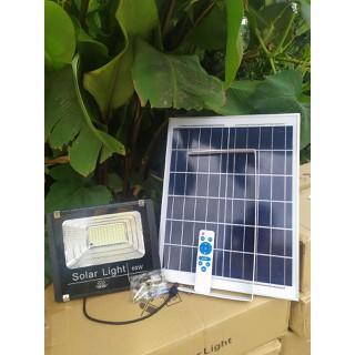 Đèn pha năng lượng mặt trời có điều khiển 40W tấm pin 23x 35 - đèn năng lượng 40W thumbnail