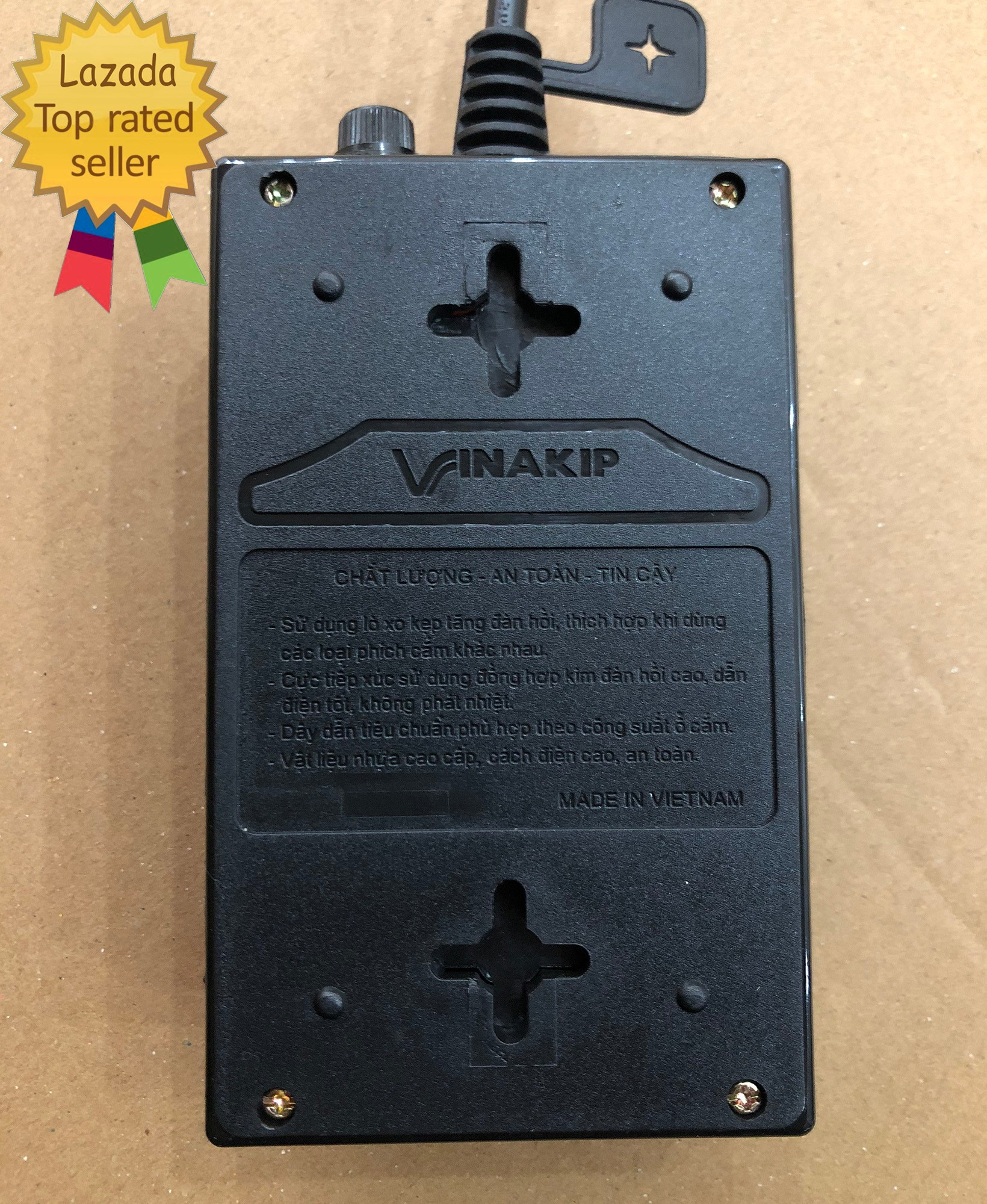 Ổ cắm điện 5m chịu tải 2500W VINAKIP - ổ cắm điện đa năng 6 ngả 2 công tắc  [ĐƯỢC KIỂM HÀNG] - 16103160   Ổ cắm điện
