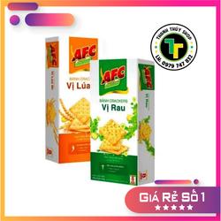 Combo 02 hộp - Bánh quy mặn AFC dinh dưỡng nhiều vị siêu thơm ngon loại 200g