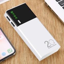 Sạc dự phòng 20000 mAh 2 cổng USB nhỏ gọn tiện lợi, bảo hành 12 tháng