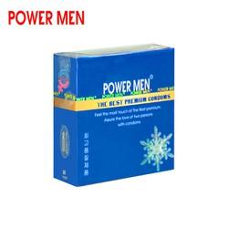 (Giá dùng thử) Bao cao su Powermen 3 bcs – Bao cao su Power Men Hương bạc hà mát lạnh