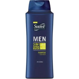 Dầu Gội Xả Tắm Suave Men 3 in 1 Mỹ - 828ml
