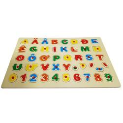 Đồ chơi thông minh bảng chữ cái tiếng việt có dấu và số bằng gỗ đẹp cho bé