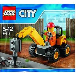 Bộ đồ chơi lắp ráp Xe tháo dỡ bê tông LEGO City 30312