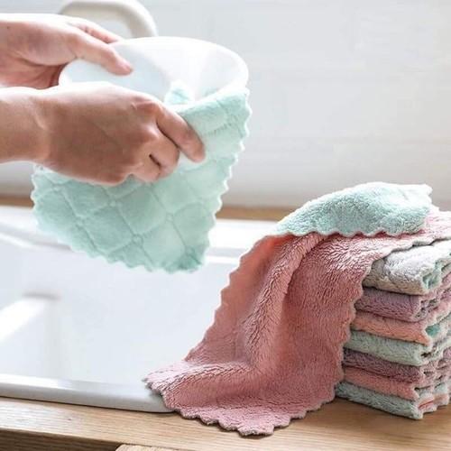 COMBO 10 khăn lau nhà bếp,khăn lau đa năng siêu thấm hút - 0232 thumbnail