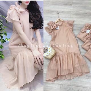 váy bầu- đầm bầu thiết kế thời trang xuông a đuôi cá- mẫu mới 2020 - 5y6 thumbnail
