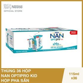 Thùng 36 hộp Nestle NAN OPTIPRO Kid Hộp pha sẵn 115ml - 6 lốc x 6 hộp x 115ml - NAN030191
