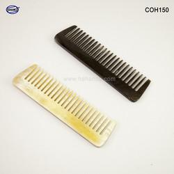 Lược sừng xuất Nhật (Size: XS - 9cm) Lược mini có thể bỏ ví nam - COH150 - Horn Comb of HAHANCO - Chăm sóc tóc