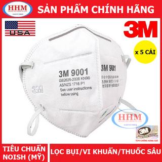 KHẨU TRANG 3M 9001 (5 CÁI) LỌC BỤI SIÊU MỊN PM 2.5 VIRUS CORONA - 3M-9001-5C thumbnail