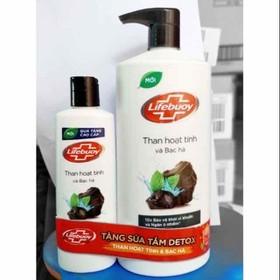 [ Free ship] Tặng sữa tắm 200g khi mua Sữa tắm detox bảo vệ da Lifebuoy than hoạt tính và bạc hà 850g - STL14
