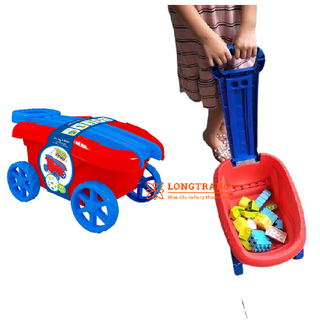 Xe kéo kèm 29 khối Lego cho bé - LT119 thumbnail