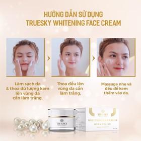 Kem dưỡng trắng da mặt Truesky chiết xuất ngọc trai hồng y 10g - Whitening Face Cream - TRUESKY_FACE10G-3