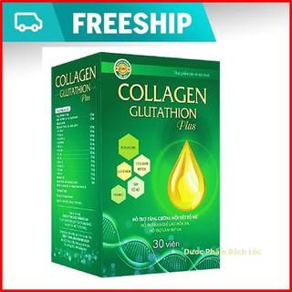 Viên uống đẹp da Collagen Glutathion Plus - thành phần sâm tố nữ, Isoflavons Giúp tăng cường nội tiết tố, hết nám, sạm da, đẹp da. - Hộp 30 viên - Collagen Glutathion Plus thumbnail