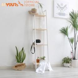 Kệ sách đa năng BEYOURs A Book Shelf 4FS size S nội thất kiểu hàn lắp ráp - màu trắng phối gỗ