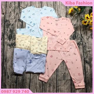 Bộ quần áo dài tay chất mềm, mịn cho bé trai, bé gái 5-14kg BDAVL0200 ( Ảnh +Video thật ) bộ quần áo cho bé, bộ thun lạnh dài tay