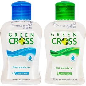 [Nhập SD74D9 giảm 10k] Combo 2 chai Nước Rửa Tay Khô Green Cross 100ml Hương Tự Nhiên + Trà Xanh - GREENCROSSTXTN
