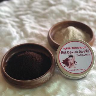 LÀM TRẮNG DA TẠI NHÀ, TẨY DA CHẾT, LÀM MỊN DA MẶT & BODY ĐẬU ĐỎ CAFFE 120gram - TRANGDADD thumbnail