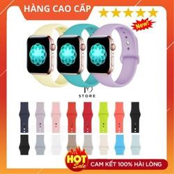 Dây Apple Watch cao su Silicon đủ màu cho series 1,2,3,4,5 ,đủ size 38,40,42,44mm