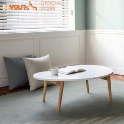 Bàn trà sofa thông minh BEYOURs D table nội thất kiểu hàn lắp ráp bằng gỗ hình hạt đậu - màu trắng