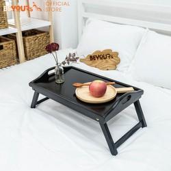 Bàn ăn mini gỗ BEYOURs Bed Tray chân gập đa năng nội thất kiểu hàn - Màu đen