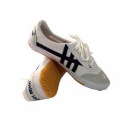 Giày vải bata trắng sọc xanh chính hãng Bình Minh- chuyên dùng đi bộ, thể dục, lao động