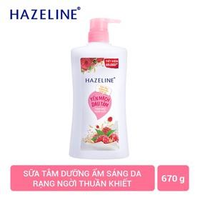 Sữa tắm Hazeline Sáng mịn đều màu 670G - 8934868137160