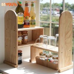 Kệ bếp để gia vị đồ dùng nhà bếp bằng gỗ BEYOURs nội thất kiểu hàn lắp ráp