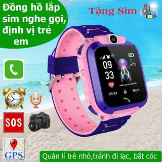 Đồng hồ thông minh A28 tặng kèm sim 4G có thể nghe gọi định vị có camera chống nước - có thể nghe gọi định vị có camera - đồng hồ thông minh A28 thumbnail