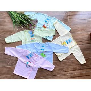 Áo sơ sinh khuy lệch chất cotton cực đẹp cho bé - aodaisosinh thumbnail