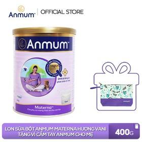 [Tặng 1 ví cầm tay Anmum] Lon Sữa bột Anmum Materna hương Vani 400g - TUANM0010CB