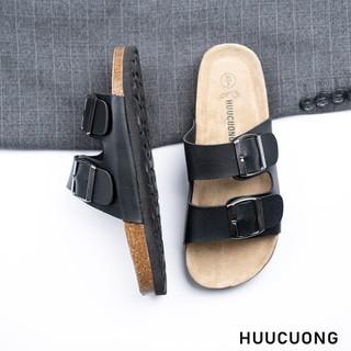 Dép 2 khóa đen HuuCuong - 2129 thumbnail