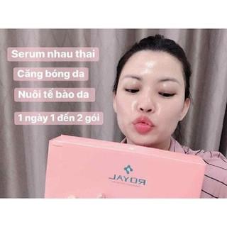 Com Bo 5 Mặt Nạ SeRum Nhau Thai Dưỡng Trắng RoYa -Nhật Bản - Xịn Sò - Com Bo 5 Mặt Nạ SeRum Nhau Thai Dưỡng Trắng R thumbnail