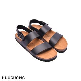 Sandal 2 quai đen HuuCuong - 2150 thumbnail