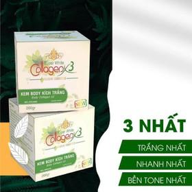 Kem Body Kích Trắng Collagen X3 (Body X3 Xanh) - 0165-0