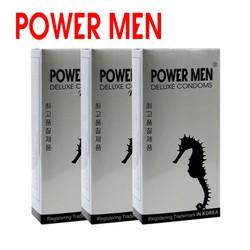 Bao cao su Powermen cá ngựa kéo dài, chống xt sớm 36 bcs -  combo 3 hộp