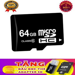 Thẻ nhớ 64 GB - Micro SDHC 64 GB- TẶNG ĐẦU ĐỌC THẺ - SDFDGFD thumbnail