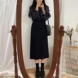 Chân váy midi dài
