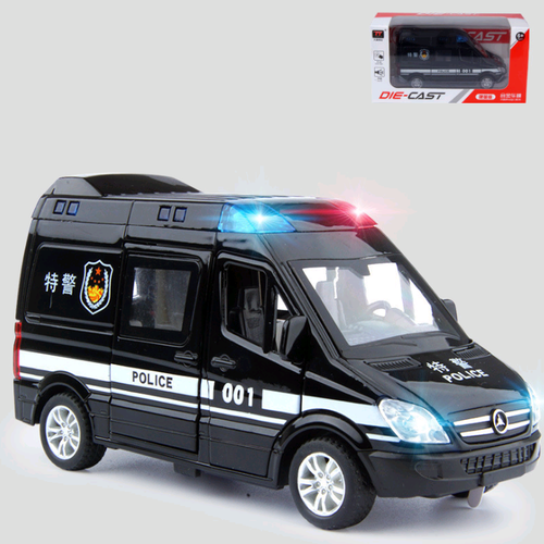 Xe ô tô cảnh sát tỉ lệ 1:32 có âm thanh và đèn mở các cửa